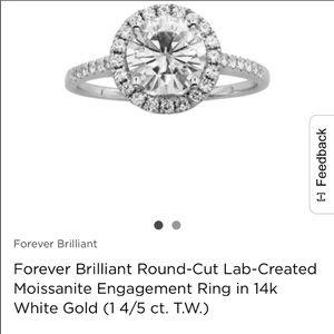 Jewelry - moissanite 1 4/5 carat halo engagement ring